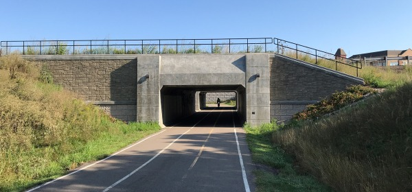 Trail underpass at Highway 62 in Mendota Heights