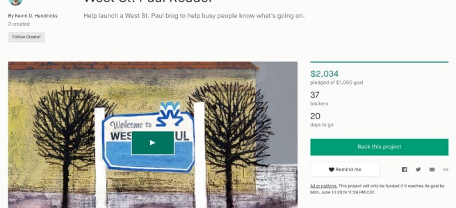 Kickstarter campaign at $2,034