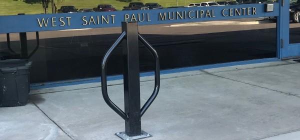 Bike rack at West St. Paul city hall