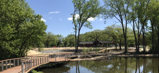 Thompson Lake restoration at Thompson County Park in West St. Paul
