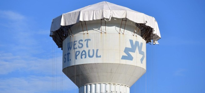 West St. Paul water tower project (photo by Carolyn Swiszcz)