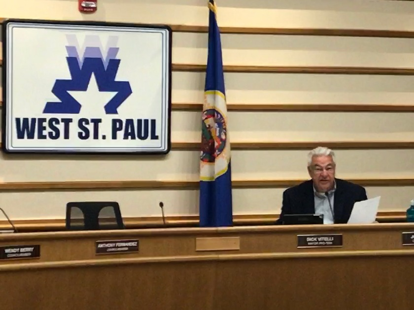 Mayor Pro Tem Dick Vitelli running the West St. Paul City Council meeting
