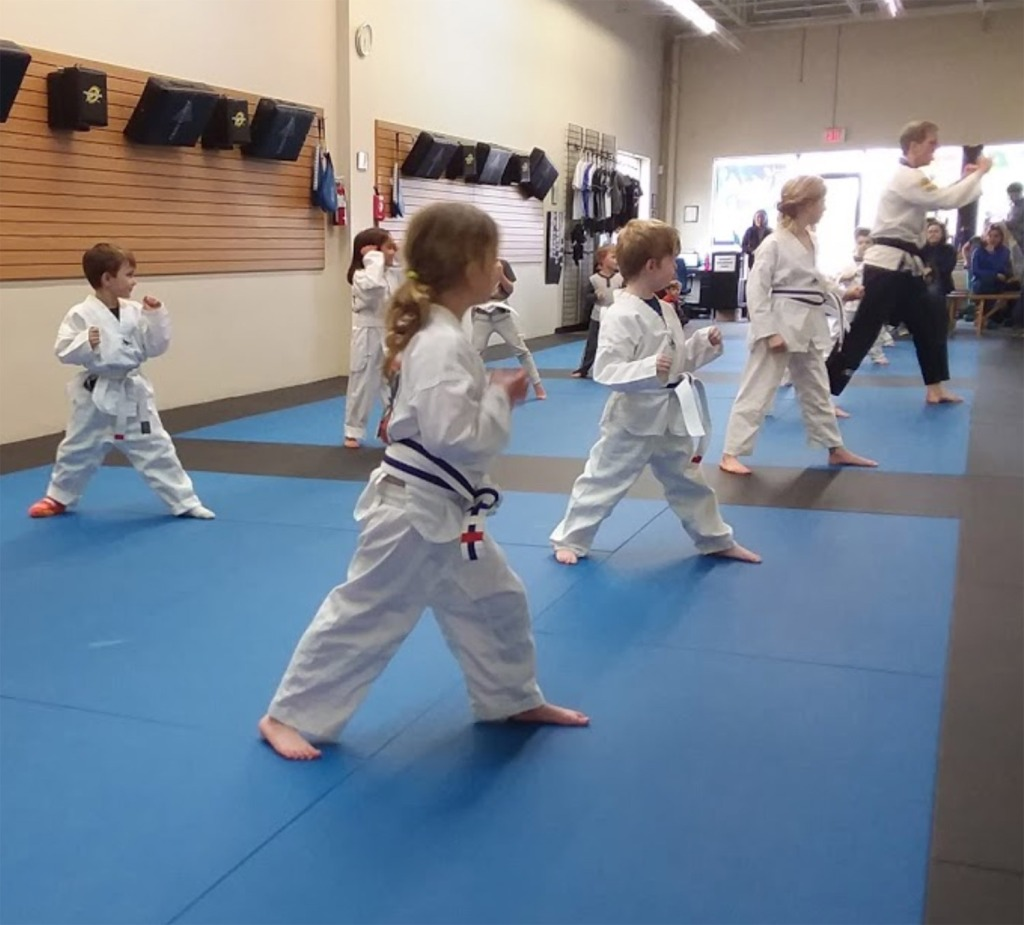 Kids training in martial arts at Legacy American Martial Arts