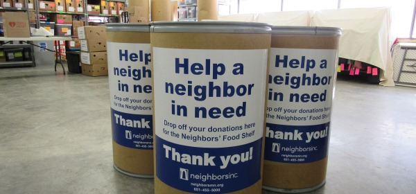 Help a neighbor in need donation bins from Neighbors, Inc.