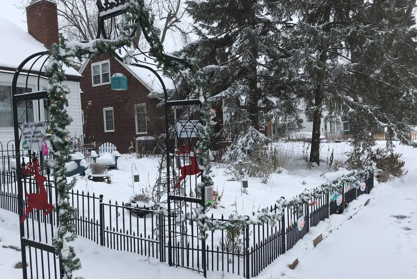 Holiday ornaments given away at a West St. Paul house