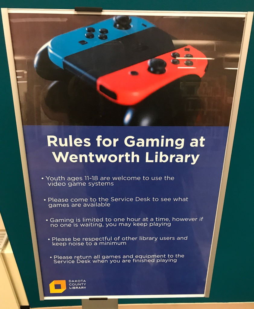 Rules for Gaming at Wentworth Library
