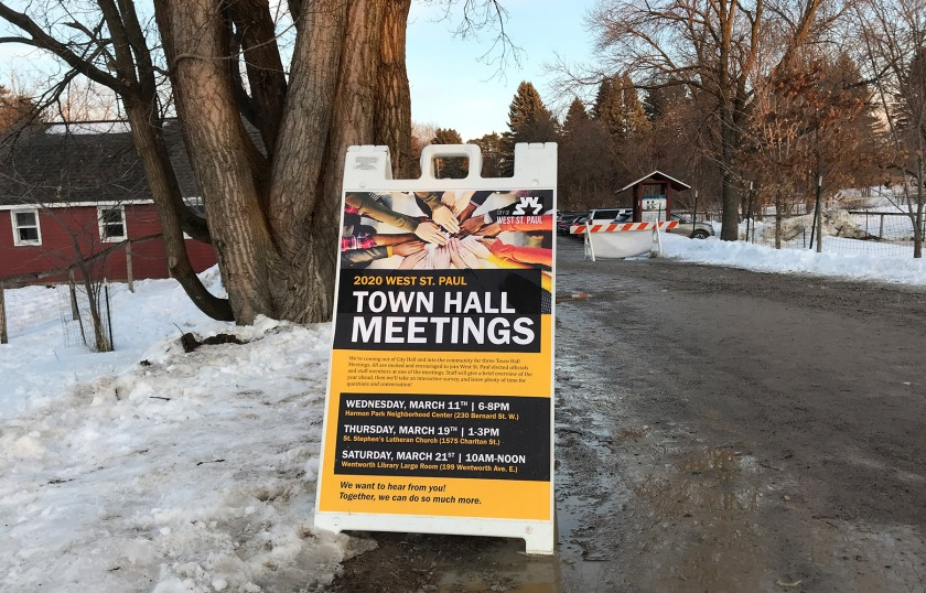 2020 West St. Paul Town Hall Meetings
