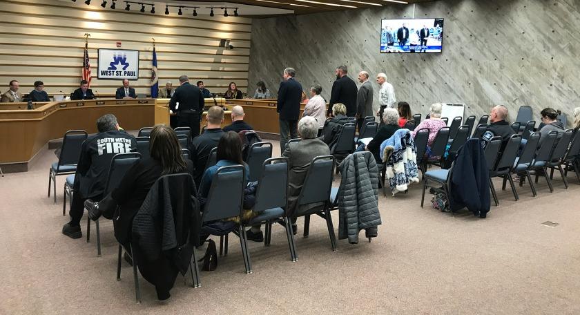Chaplain presentation during March 9, 2020 West St. Paul City Council meeting