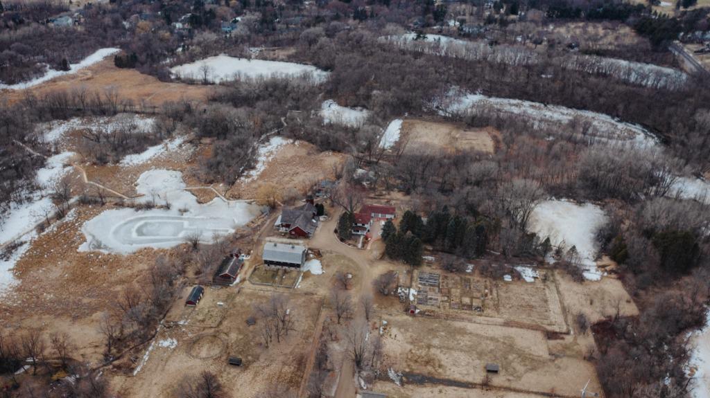 Aerial photo of Dodge Nature Center