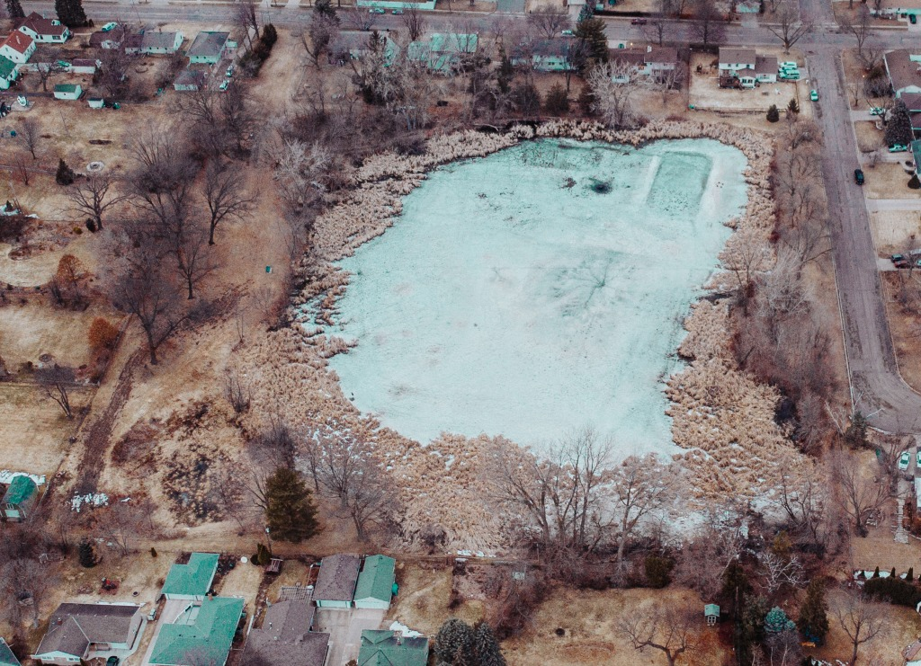 Aerial photo of Mud Lake Park