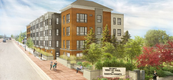 Drawing of the proposed North Gateway apartment project