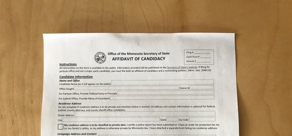 Affidavit of Candidacy