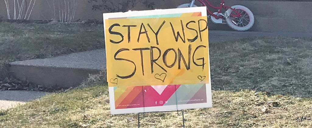 Stay WSP Strong yard sign