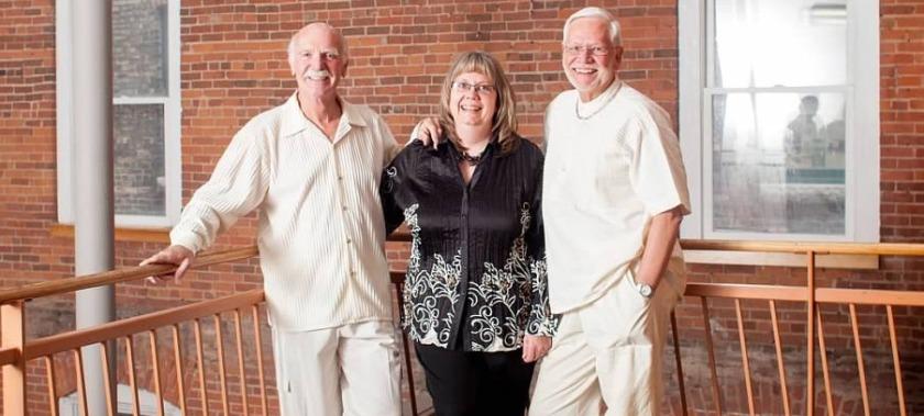 Julie Schanke Lyford with Robert and Jack Lyford
