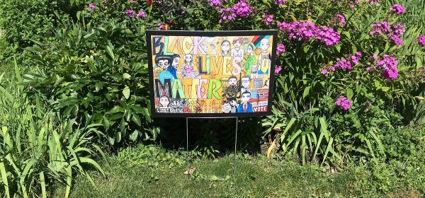 Edgar Herrera's Black Lives Matter yard sign