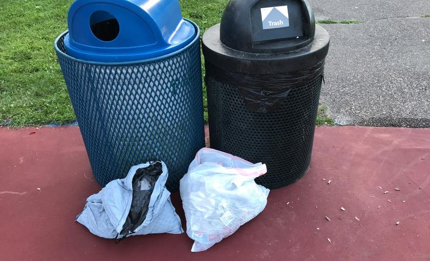 Trash at Marthaler Park in West St. Paul
