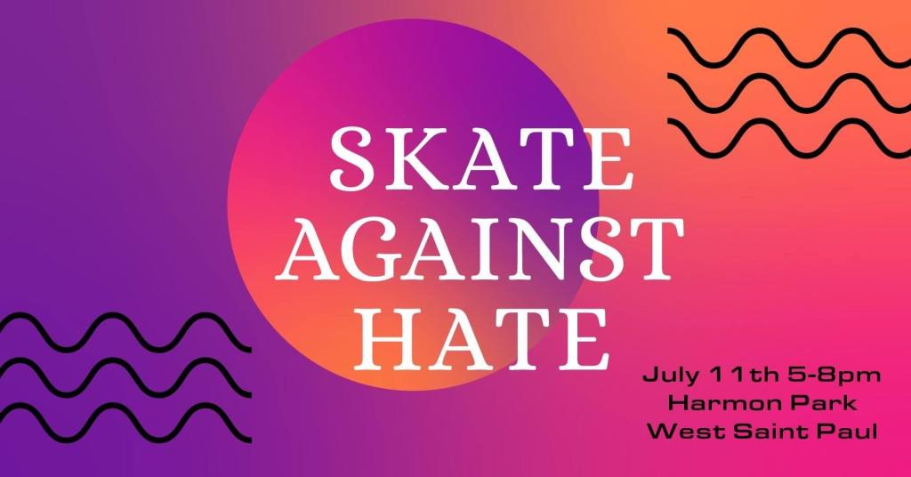 Skate Against Hate artwork by Rachel Avenido.