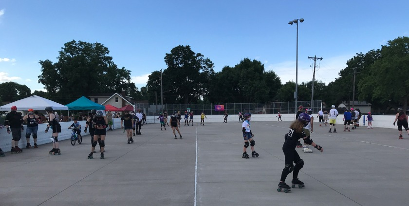 Skate Against Hate event at Harmon Park on July 11, 2020