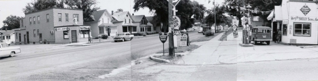 Circa 1960 view of the intersection of Robert Street and Bernard Street in West St. Paul.