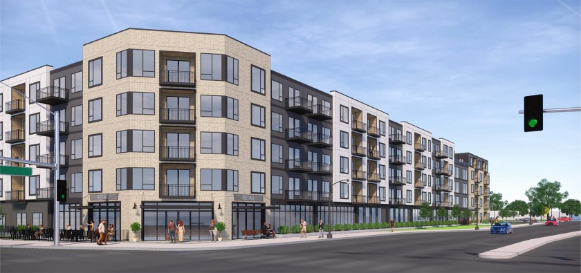 View of the proposed apartment on the corner of Robert and Wentworth in West St. Paul.