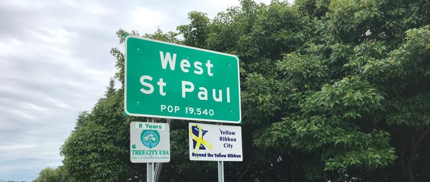 West St. Paul sign