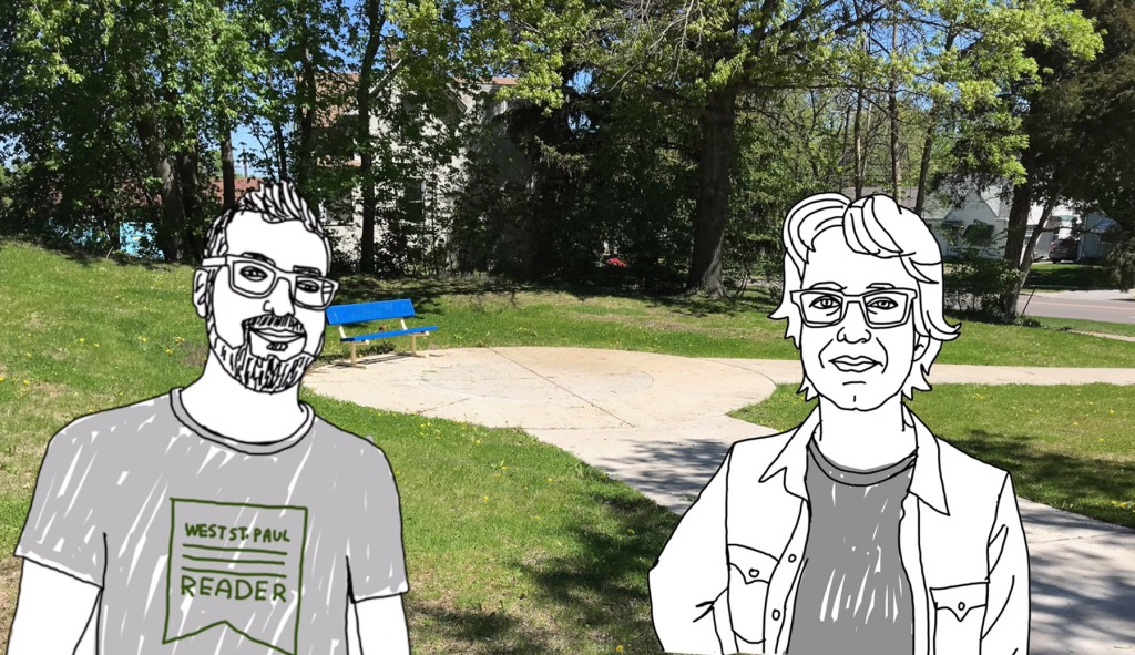Illustrated versions of Kevin D. Hendricks and Carolyn Swiszcz, created by Carolyn Swiszcz.