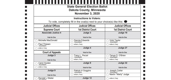 Judicial ballot for West St. Paul voters in 2020