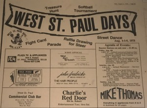West St. Paul Days newspaper ad from 1978
