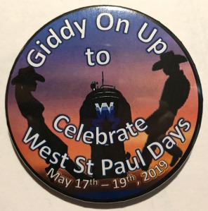 Giddy On Up to Celebrate West St. Paul Days button