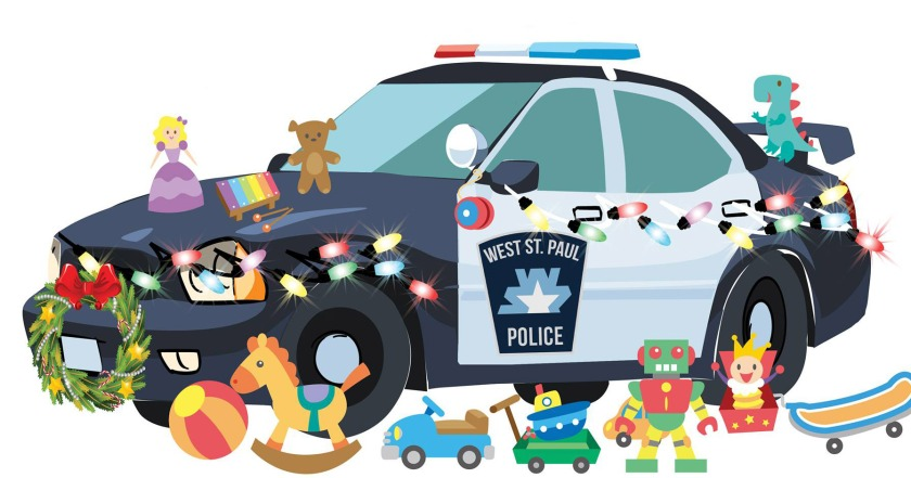 West St. Paul Police car with toys