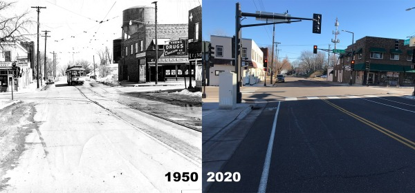 Smith and Annapolis in 1950 and 2020.