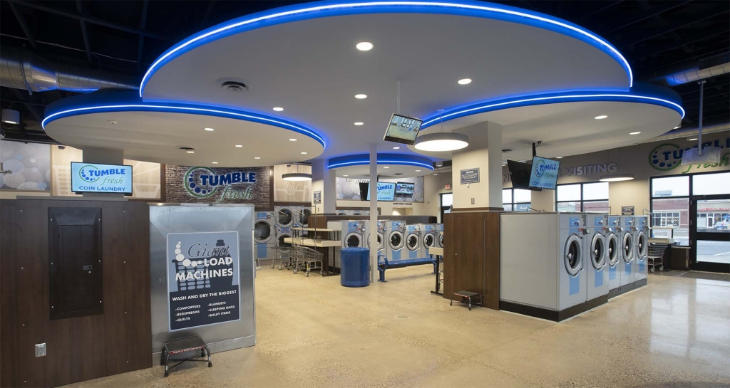Interior view of Tumble Fresh Coin Laundry