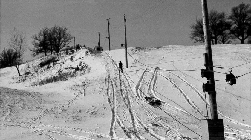 Marthaler Park ski hill in 1971