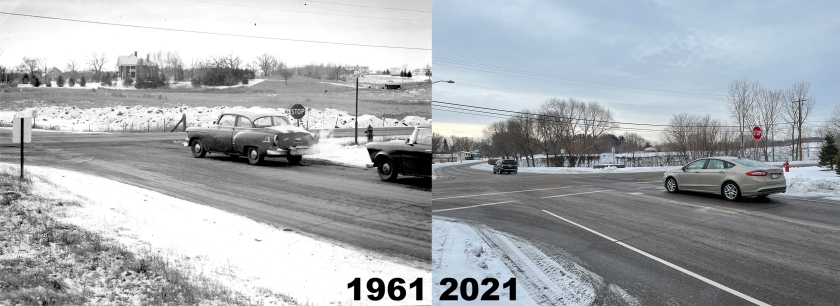 Thompson & Oakdale intersection in West St. Paul, 1961 and 2021
