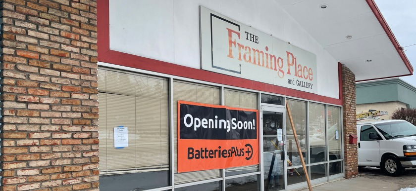 Batteries Plus moves into the Framing Place in West St. Paul.