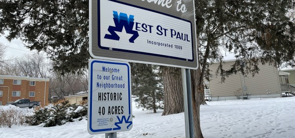 West St. Paul and Forty Acres signs