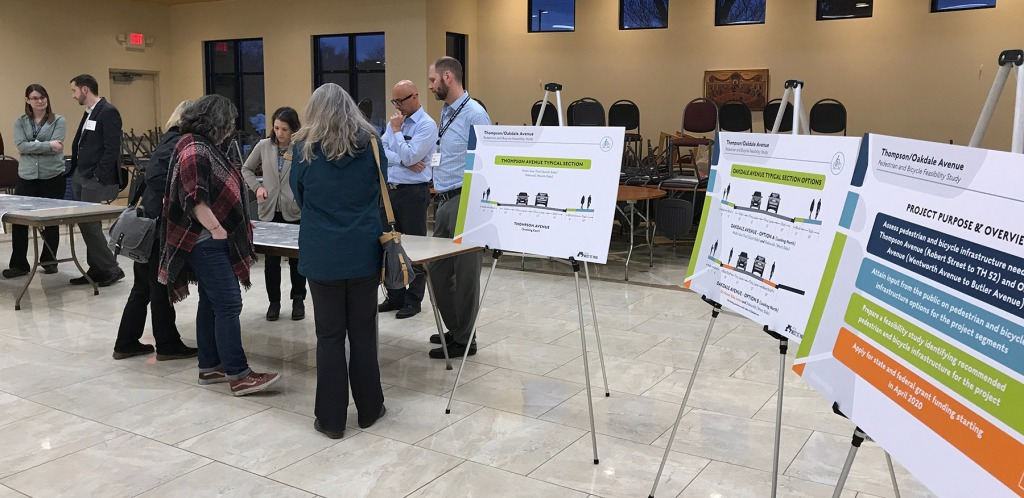 Open House about Thompson/Oakdale sidewalk and trail options.