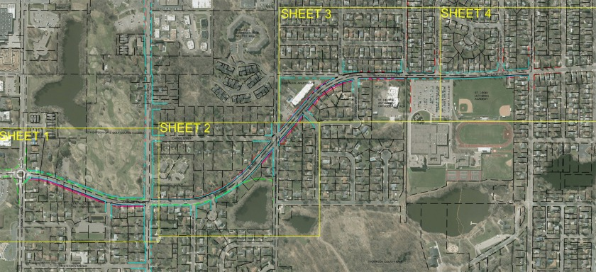 Oakdale trail and sidewalk map