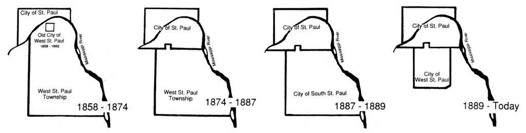 Maps of the various West St. Pauls