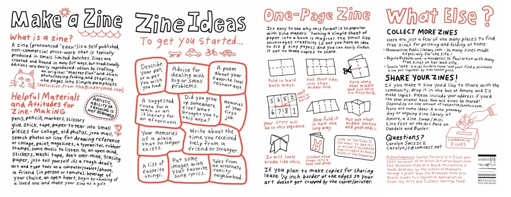 Make a Zine directions by Carolyn Swiszcz