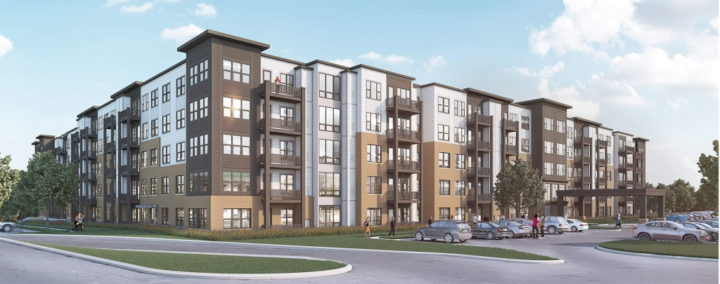 Plans for Dominium apartments at former K-mart in West St. Paul