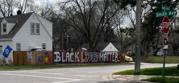 Black Lives Matter fence in West St. Paul