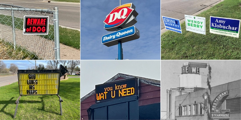 Signs in West St. Paul