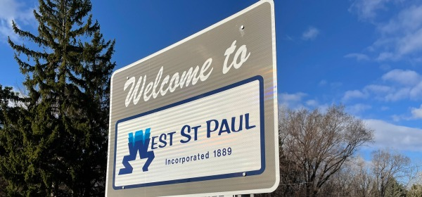 'Welcome to West St. Paul' sign