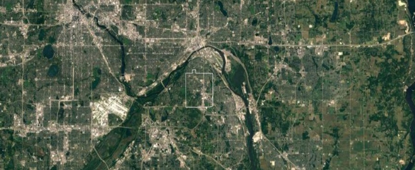 Map of West St. Paul and the Mississippi River