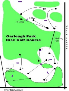 Garlough Park Disc Golf Course map