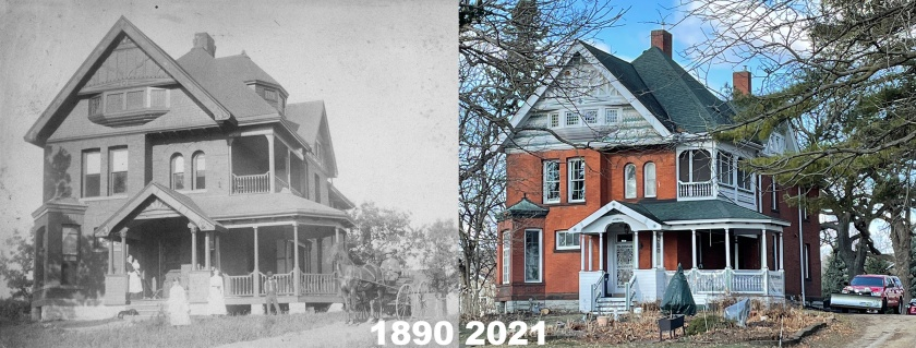 George Wentworth House in 1890 and 2021