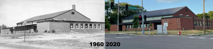 West St. Paul Armory in 1960 and 2021