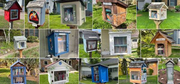 Collage of Little Free Libraries in West St. Paul