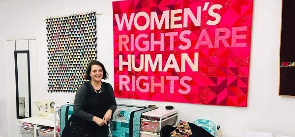 Darci Read and her Feminist Quilt
